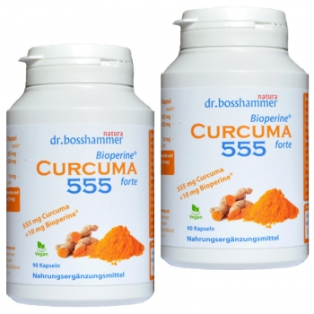 2 bottles Curcuma Bioperine forte 555 mg of 90 capsules / 180 pcs.