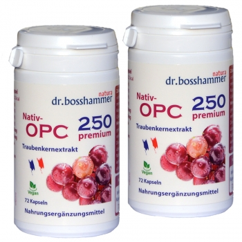 2 bottles Nativ OPC 250 Premium of 72 capsules / 144 pcs.