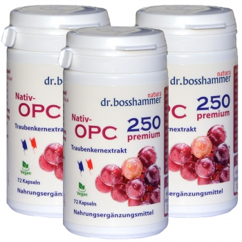 3 bottles Nativ OPC 250 Premium of 72 capsules / 216 pcs.